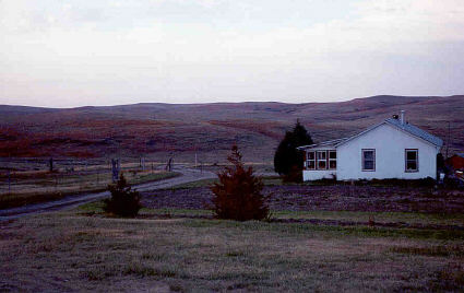 British White Cattle Ranch House